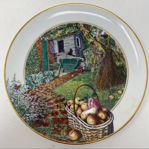 Franklin Mint September The Garden Year Plate
